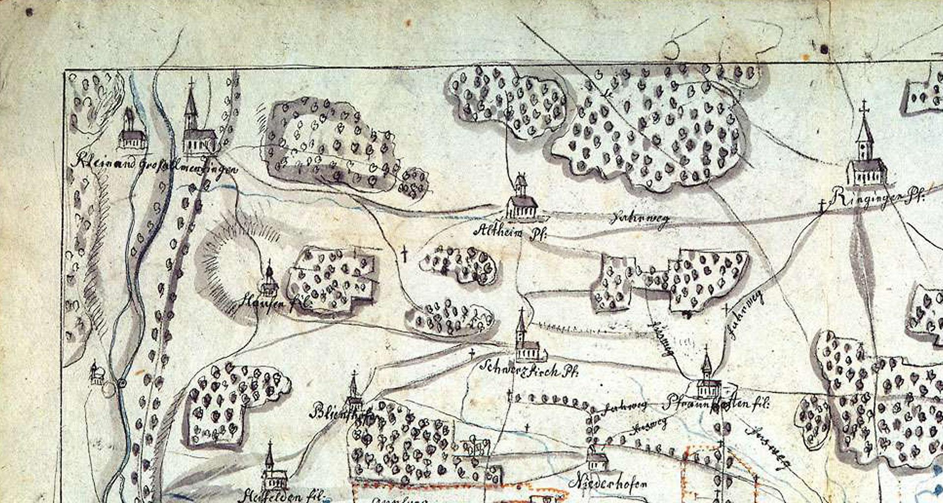Landesarchiv alte Karte